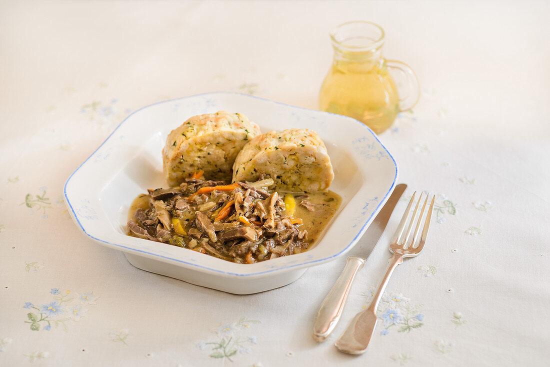 Beuschl with bread dumplings