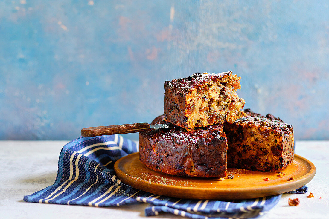 Parsnip, pecan and date cake
