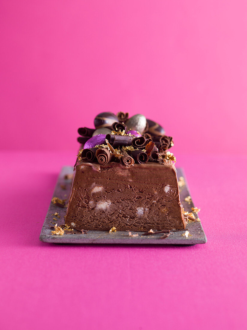 Chocolate amaretto terrine