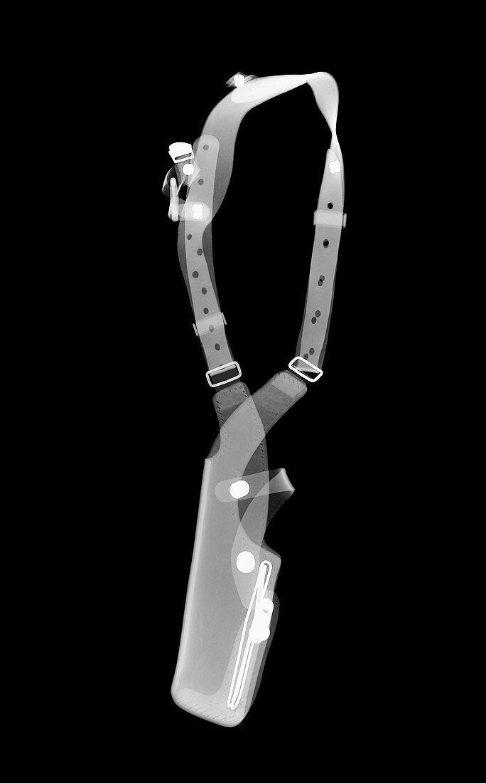 Gun holster, X-ray