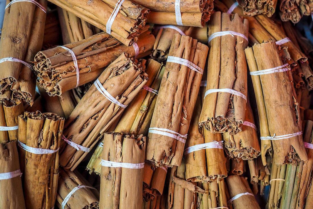 Bundles of cinnamon sticks (Sri Lanka)