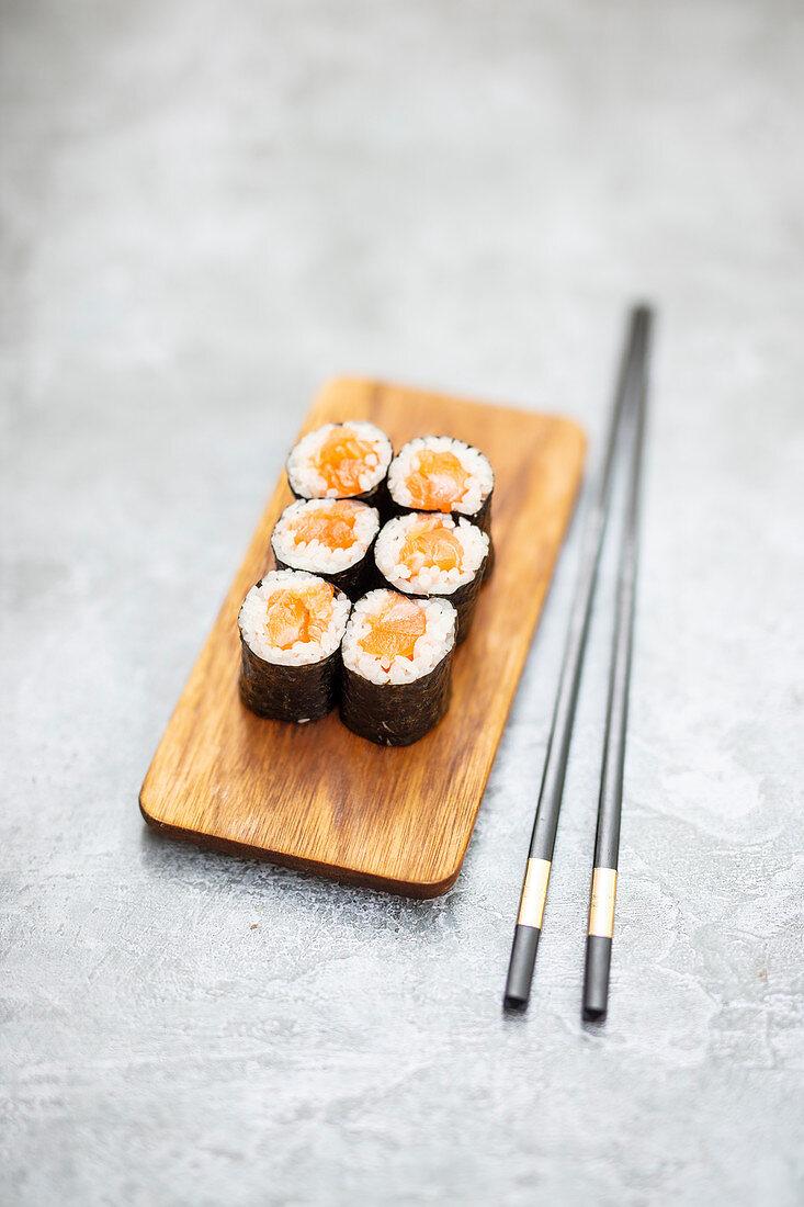 Sake Maki with salmon (Japan)