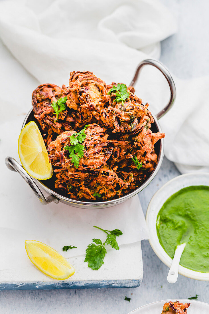 Onion Bhaji (Indian Onion Fritters)