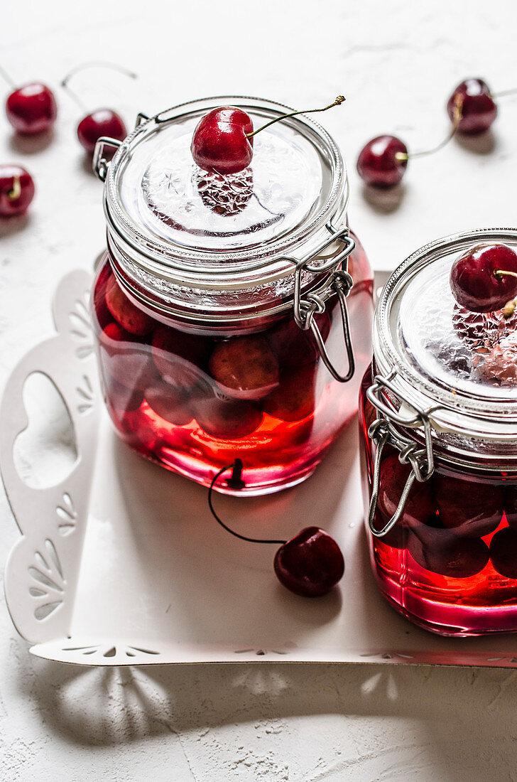 Homemade Canned Cherries