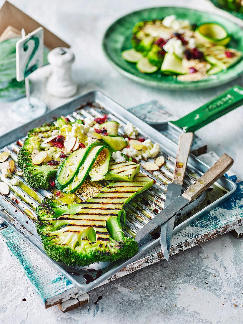Broccoli Steaks with Quinoa and Ricotta