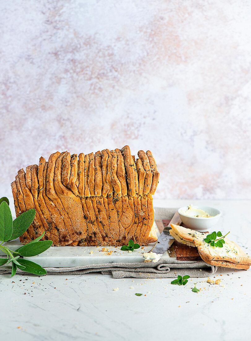 Herb bread with garlic