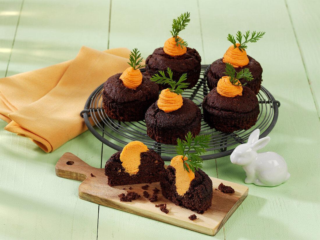 'Möhren'-Cupcakes