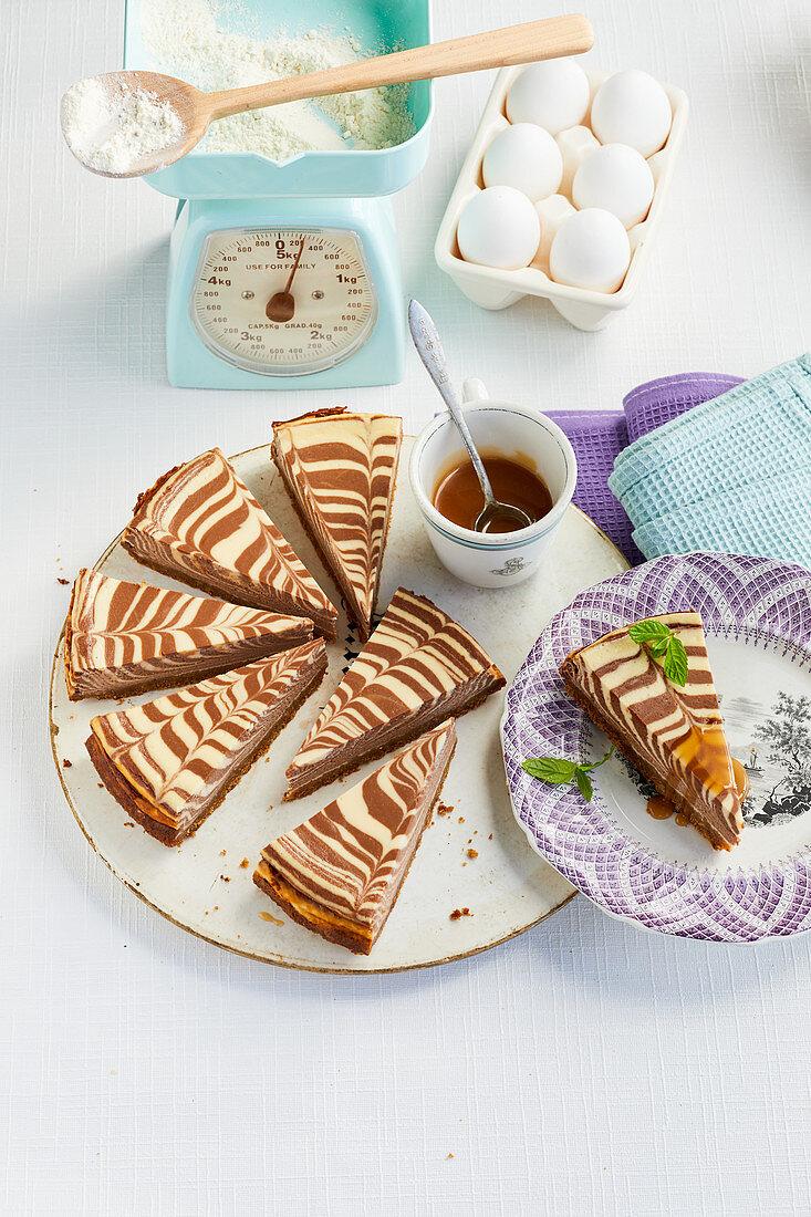 Marbled cheesecake