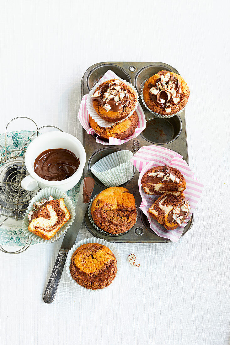 Nussnougat-Muffins