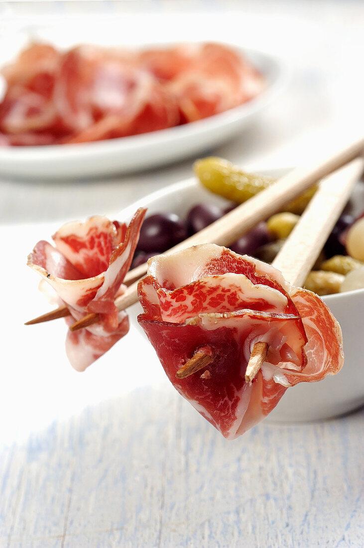 Coppa piacentina (air-dried pork neck, Italy)