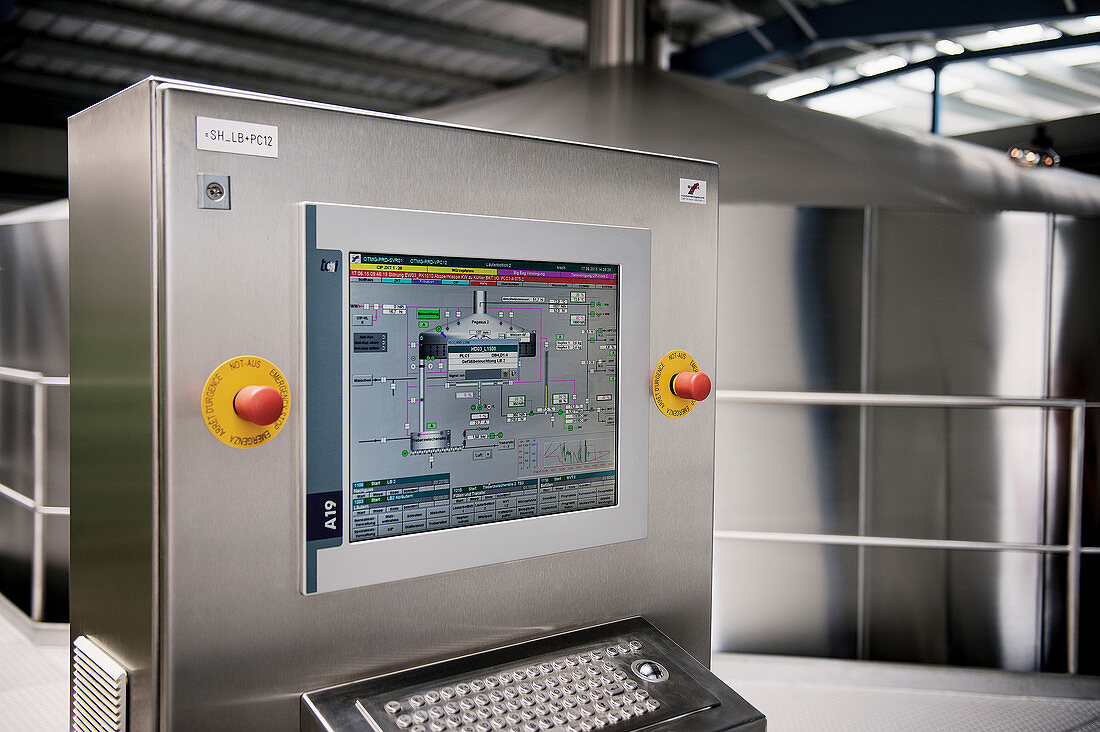 Machine controls in a brewery