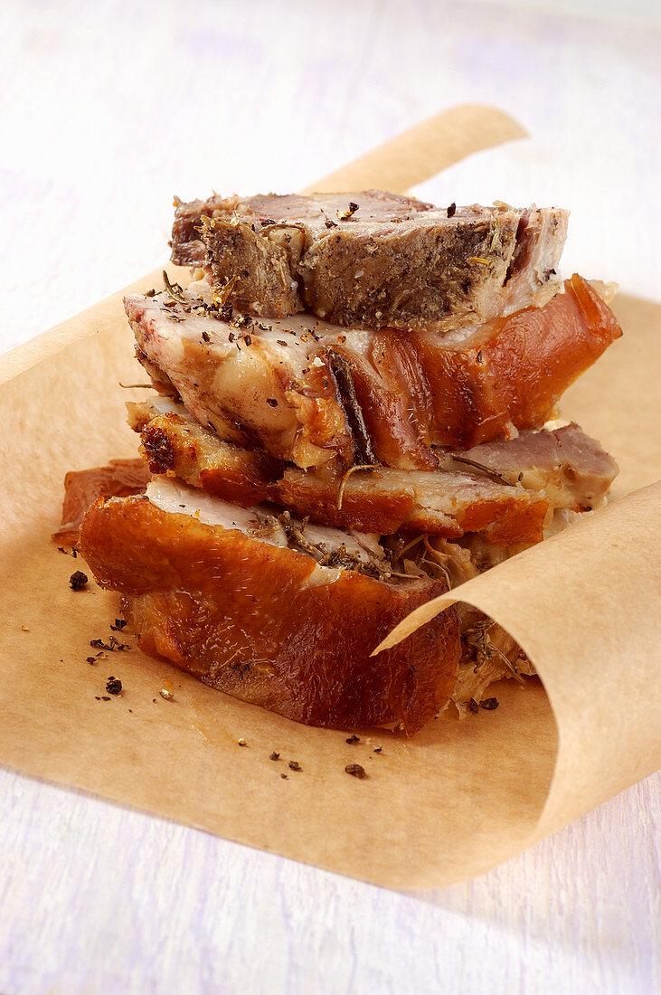 Porchetta di Ariccia (roast pork from Ariccia, Italy)