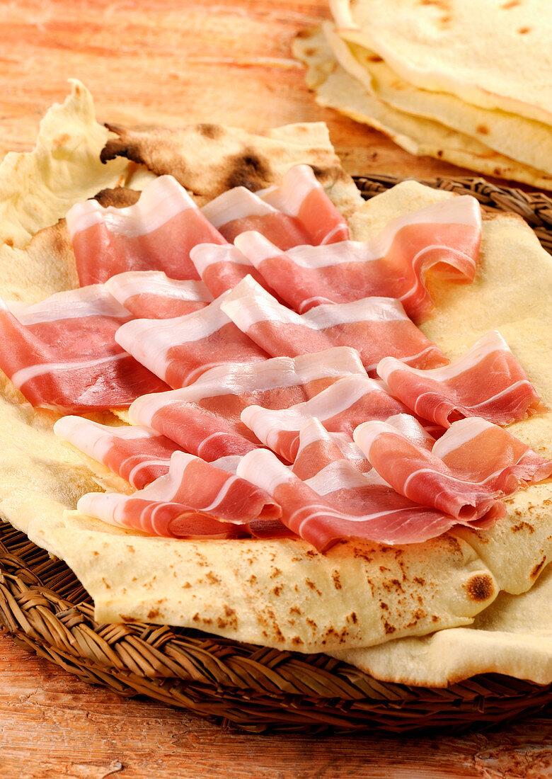 Prosciutto sardo (Sardinian raw ham, Italy)