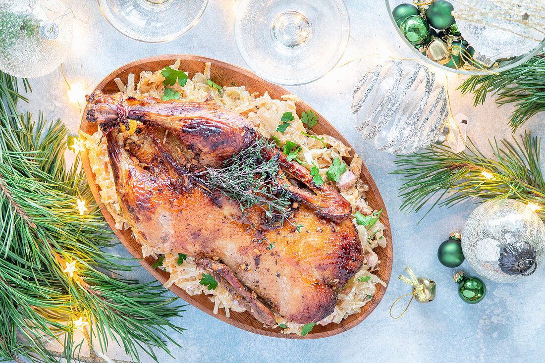 Roasted duck for Christmas