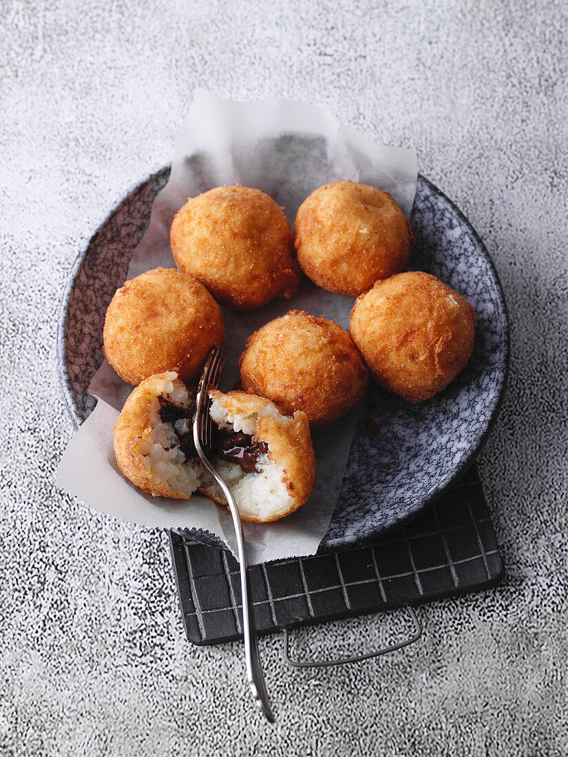 Fried rice pudding balls from the Bergisches Land