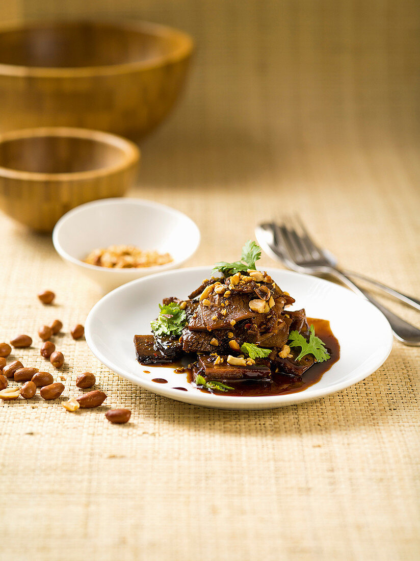 Fu-Qui-Fei-Pian (Chinese salad with beef, tongue and stomach)