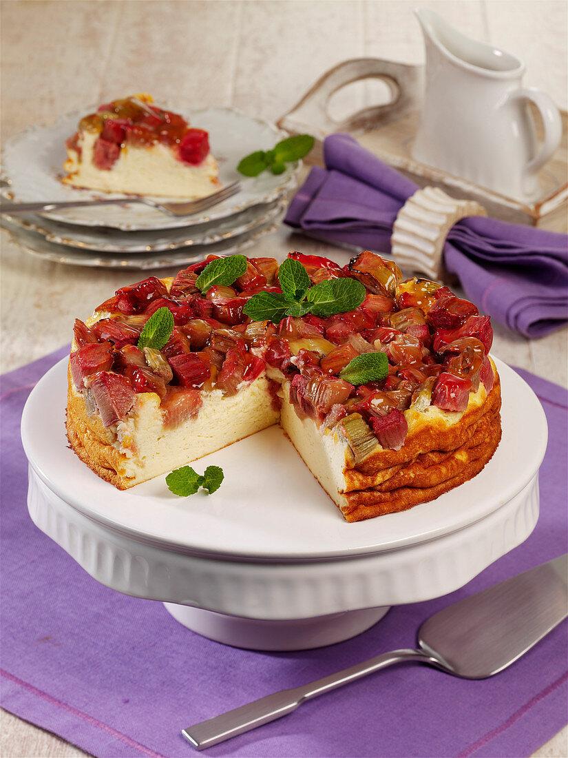 Nordic rhubarb cake