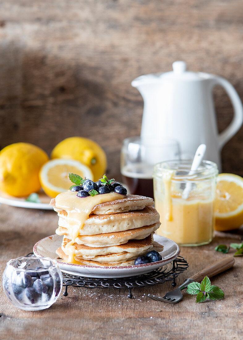 Lemon curd pancakes