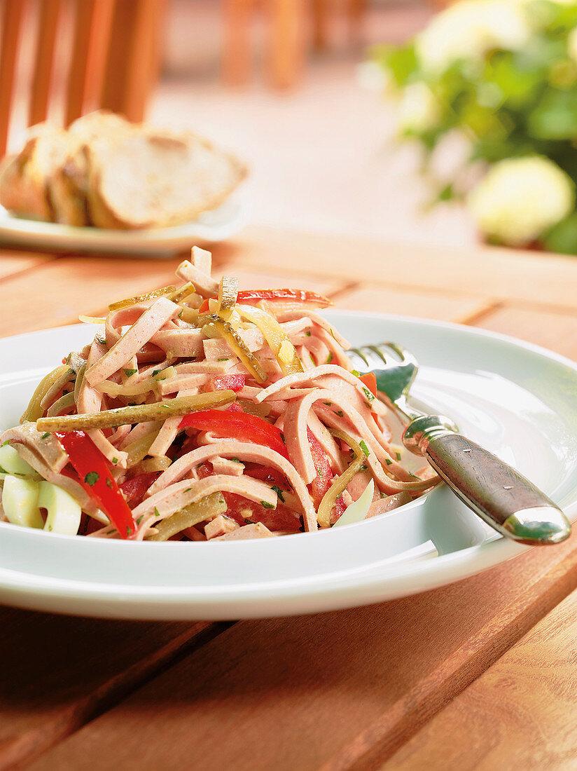Palatinate sausage salad