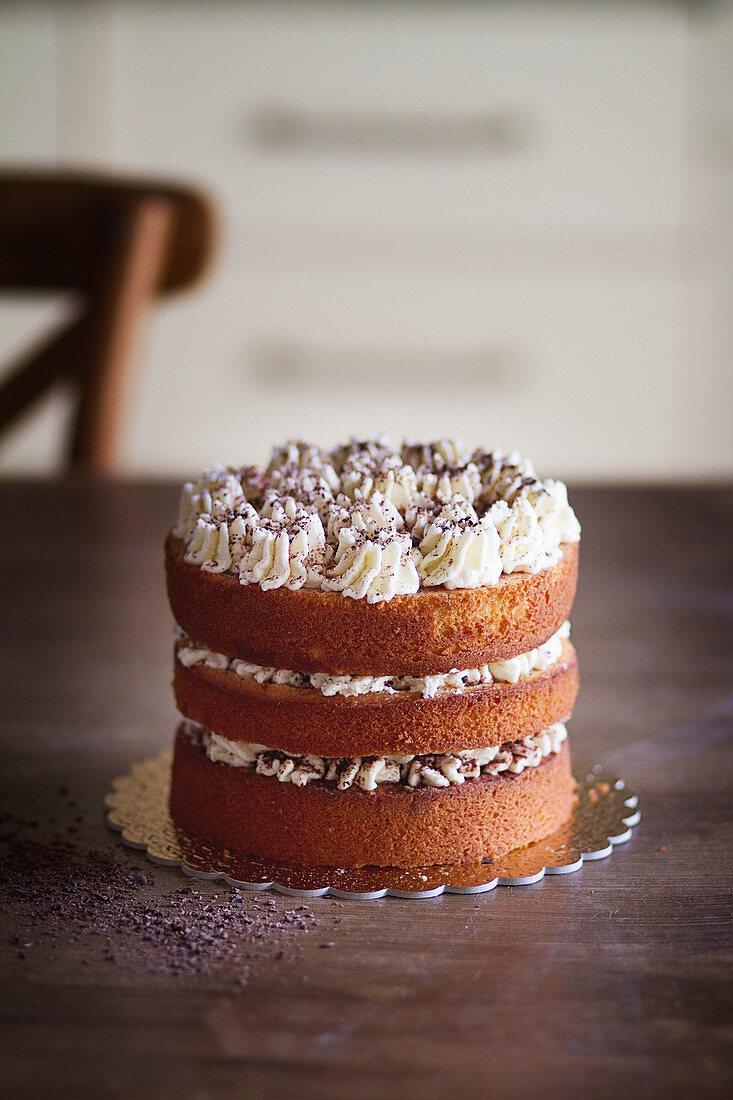 Birthday tiramisù cake