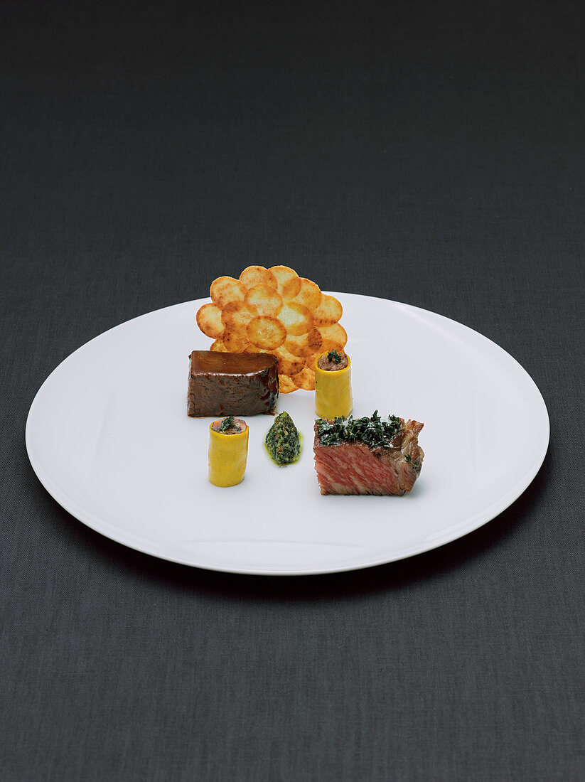 Two kinds of beef, cooked low and braised