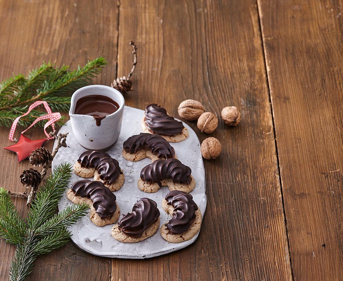Parisian chocolate rolls
