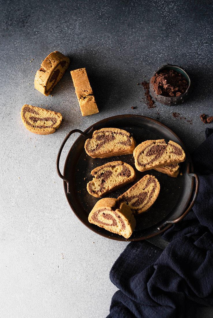 Marbled biscottis