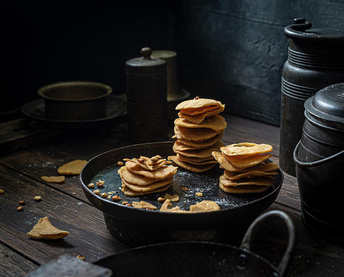 South Indian snacks for Diwali Thattai