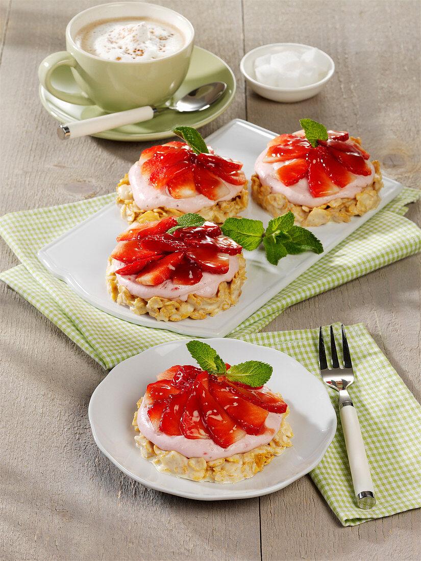 Erdbeerteilchen mit Crossieboden