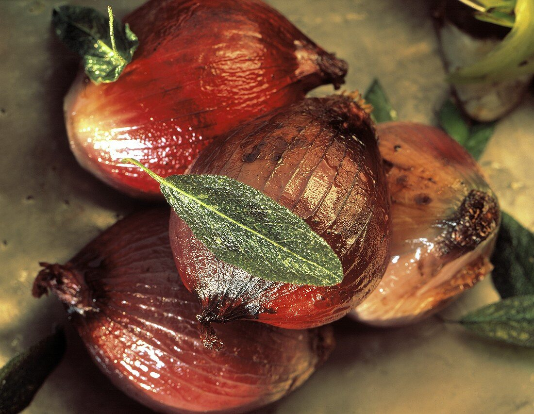 Whole Roasted Red Onions