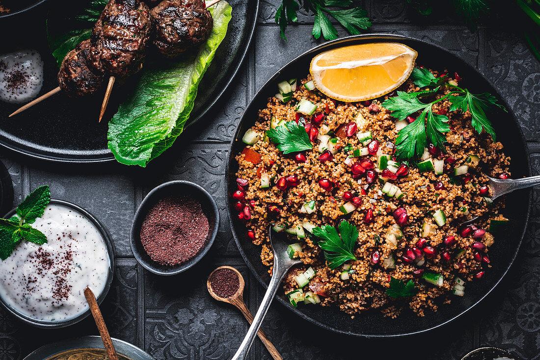 Kisir – Turkish bulgur salad with pul biber