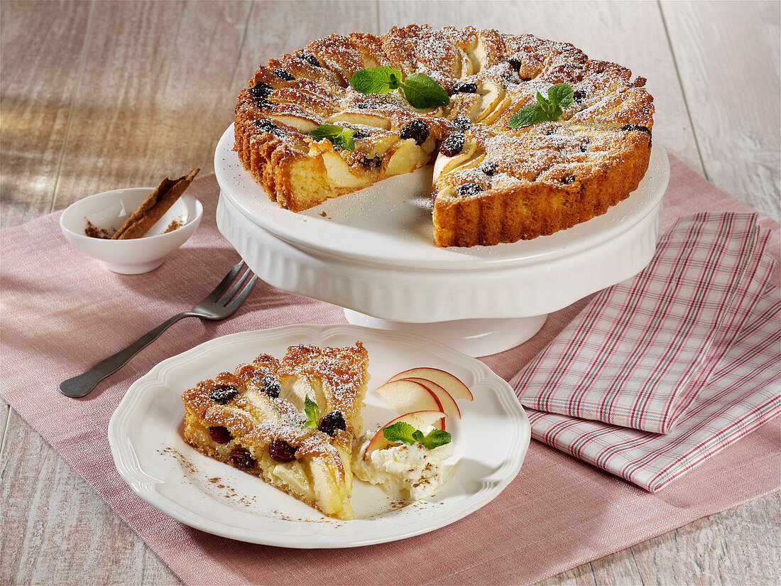 A Take 5 apple cake with cranberries