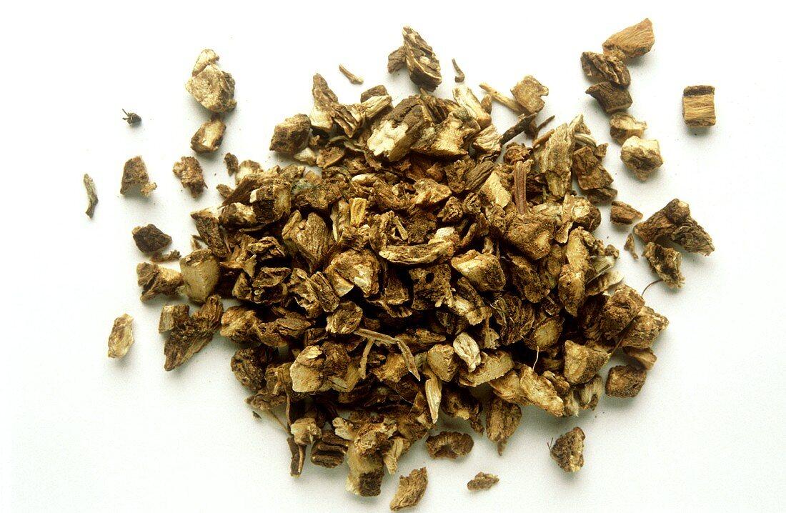Powdered pyrethrum (Latin: Anacyclus officinarum)