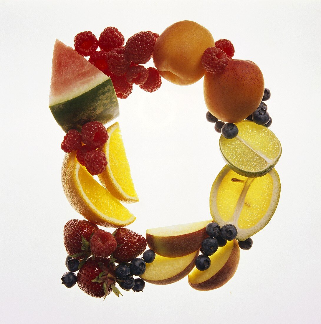 Fruit Forming the Letter D