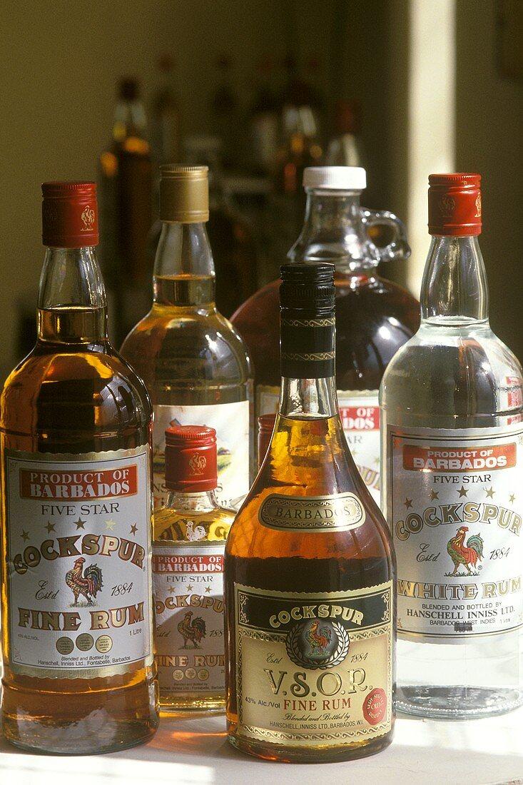 Various rum bottles (West Indies Rum Refinery, Barbados)