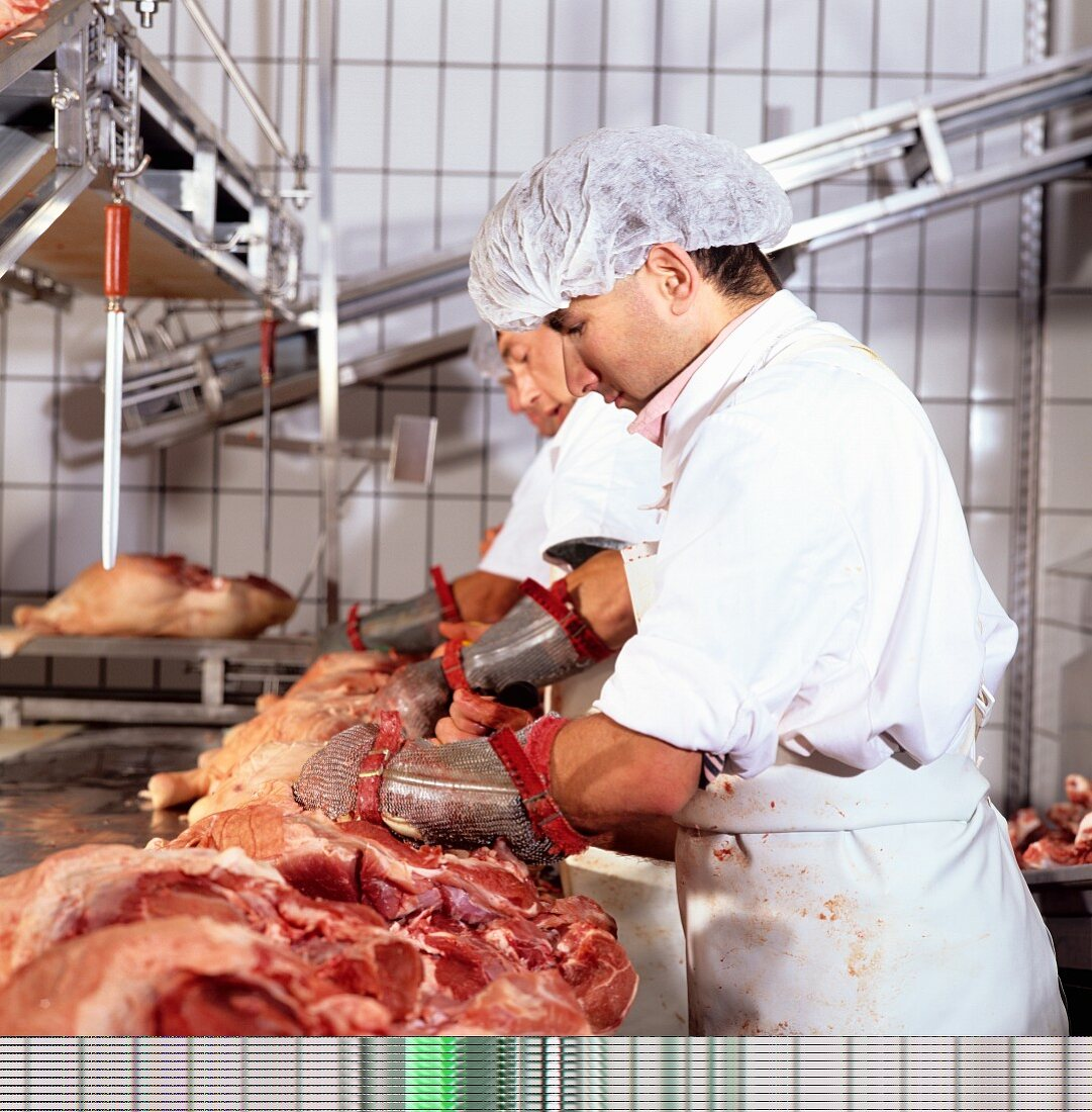 Butchers in a Slaughter House