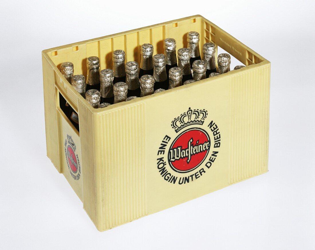 A crate of Warsteiner Pils