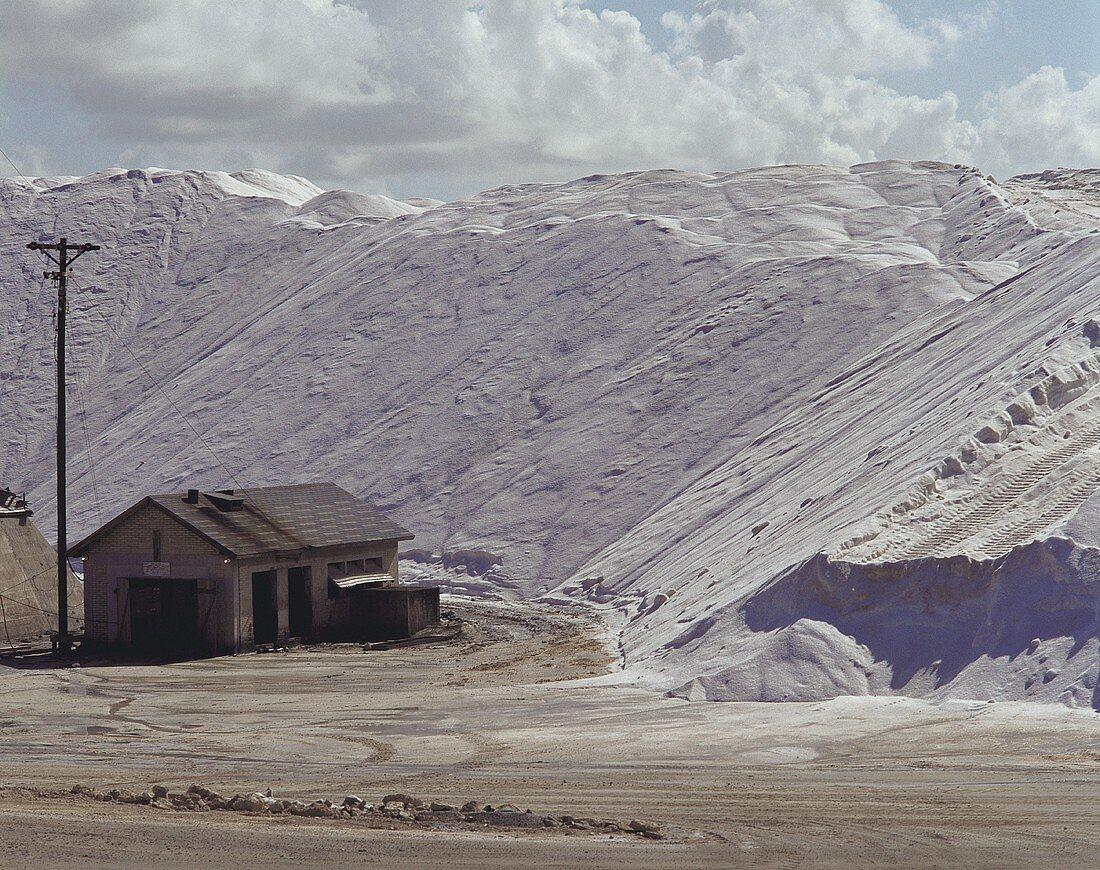 Salt works in the Bahamas