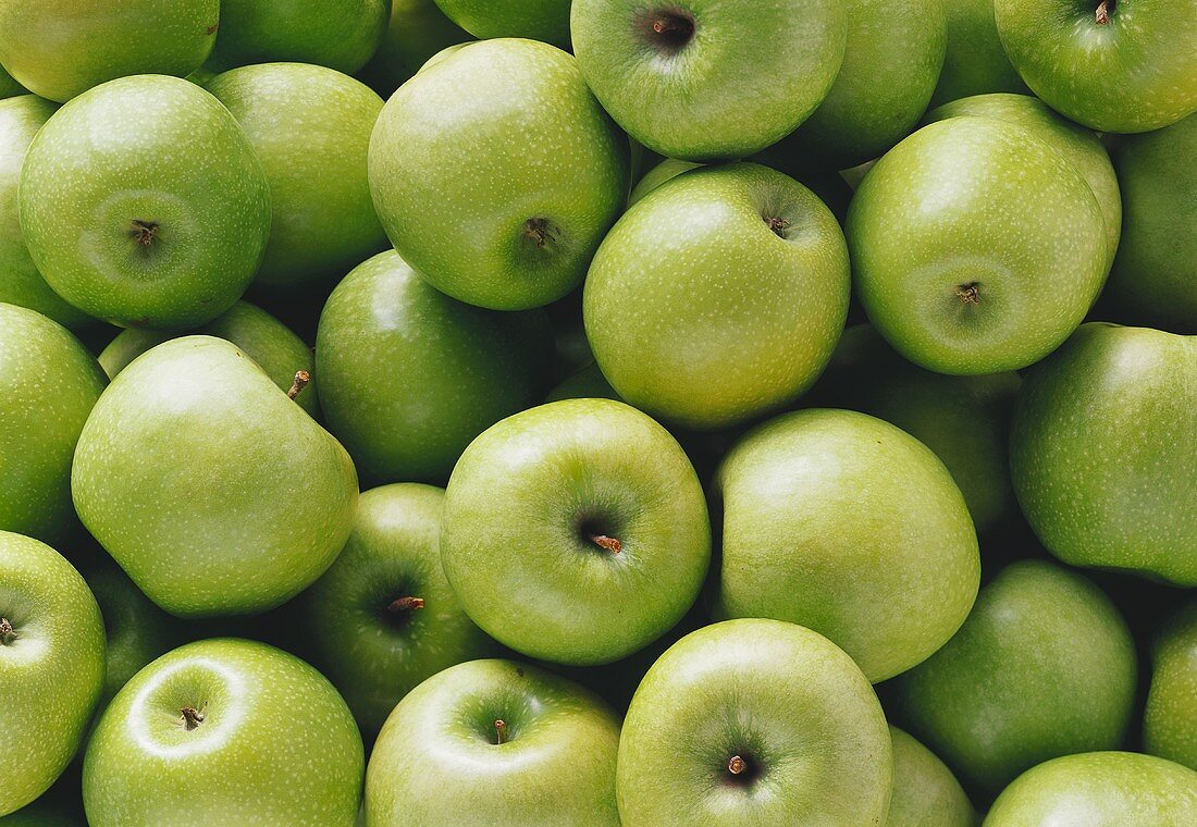 Lots of Granny Smith apples