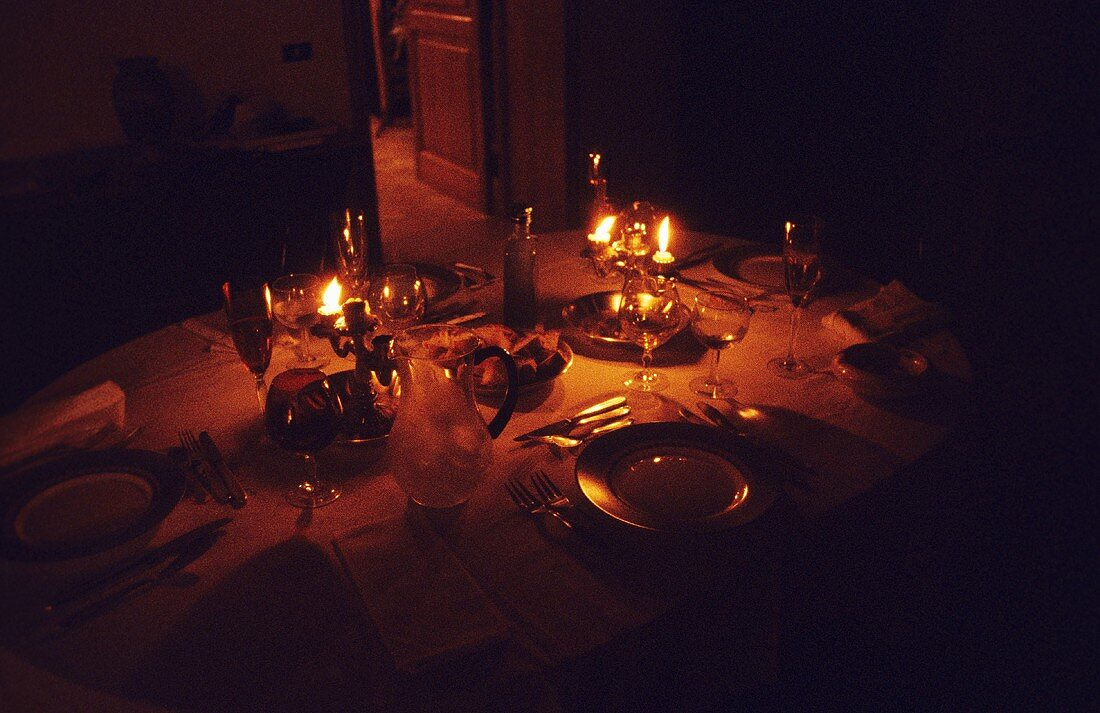 Table Setting by Candlelight