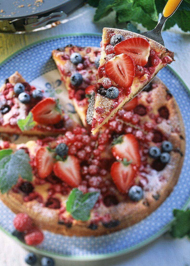 Garden party cake (summer berry tart)