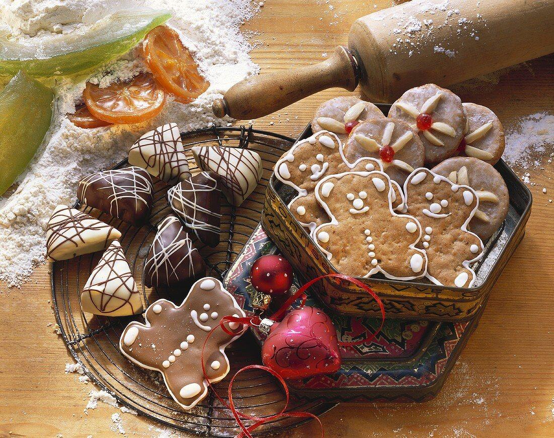 Gingerbread triangles, bears & Nuremberg gingerbread