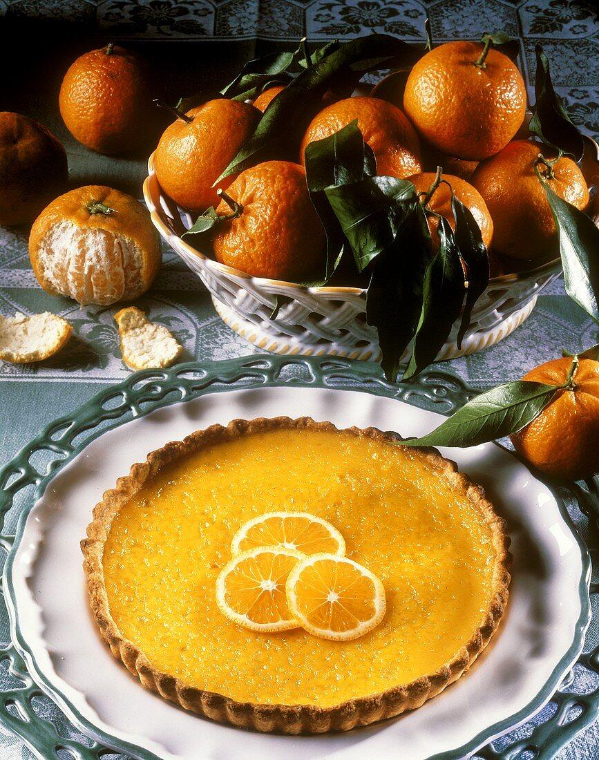 Clementine tart