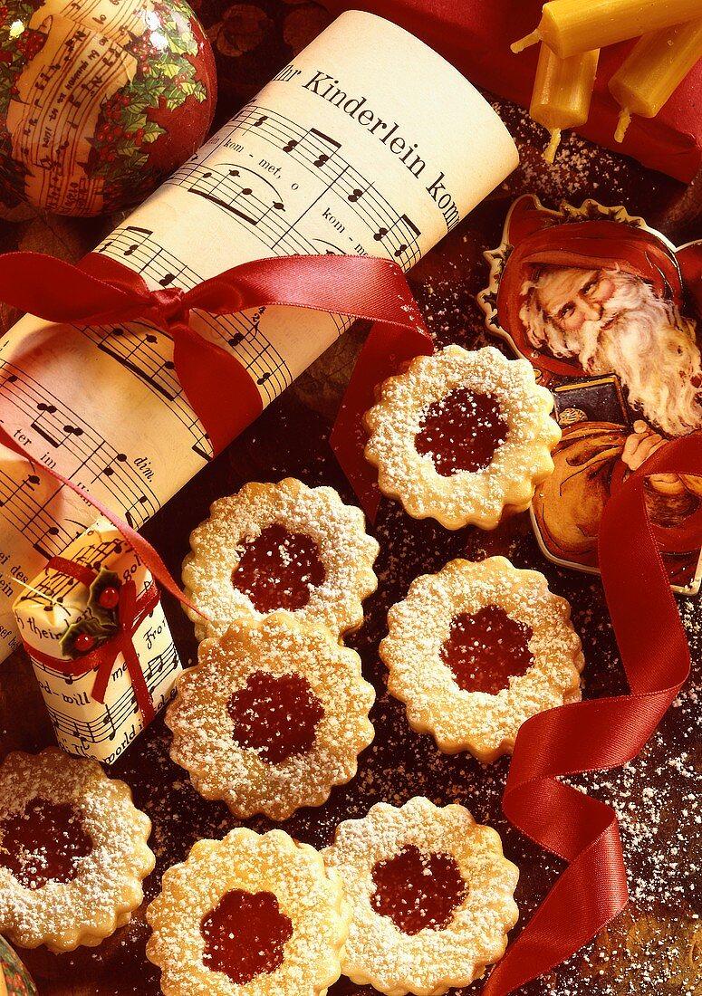 Rose hip jam biscuits
