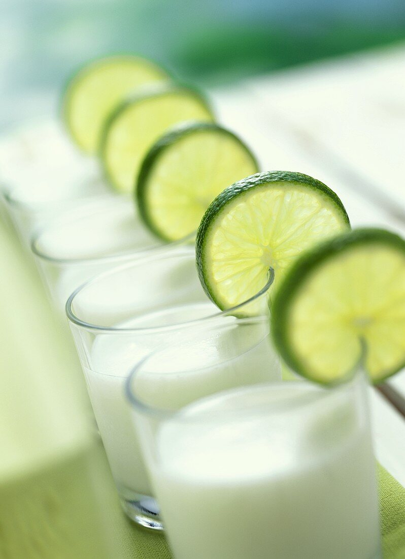 Lime Prosecco with Coconut Syrup