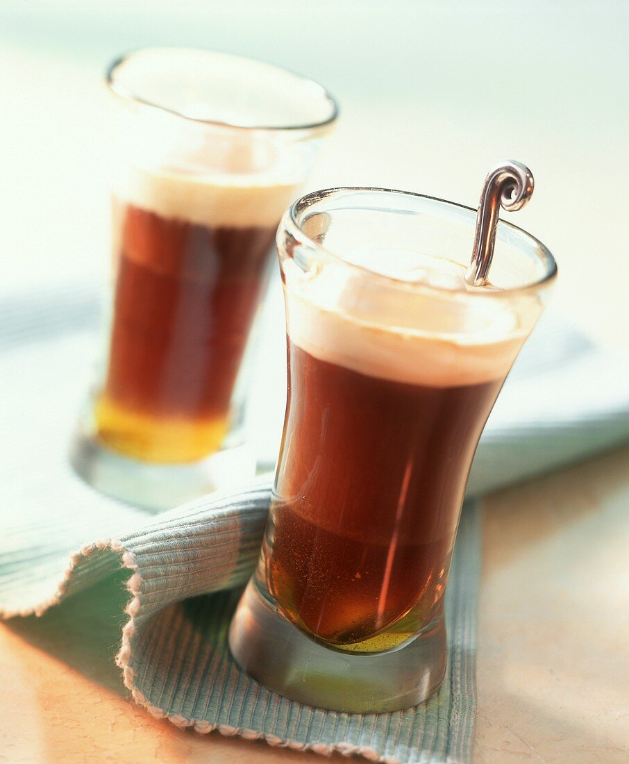 Galliano Hot Shot (coffee with liqueur and cream)