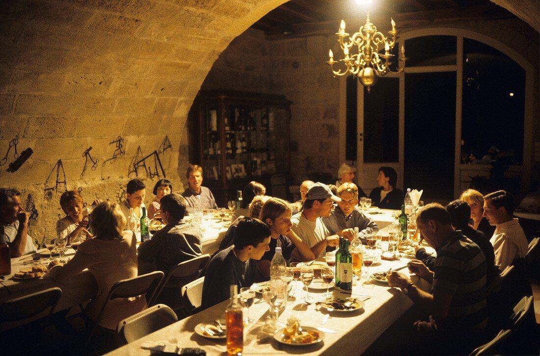 Wine festival in Chateau Franc Mayne, St. Emilion, France