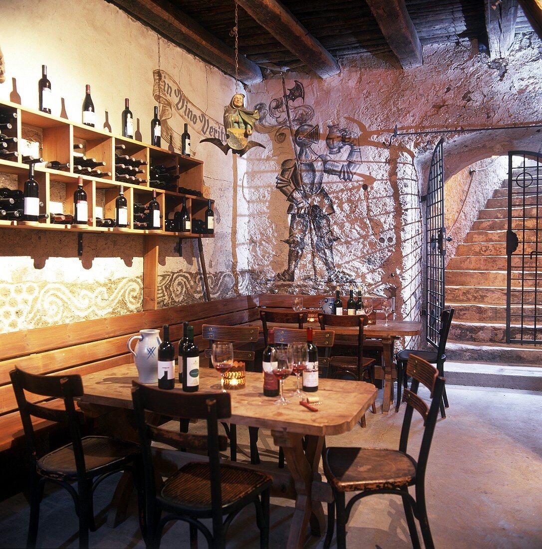 Wine cellar and tasting room on St. Michael Estate, S. Tyrol