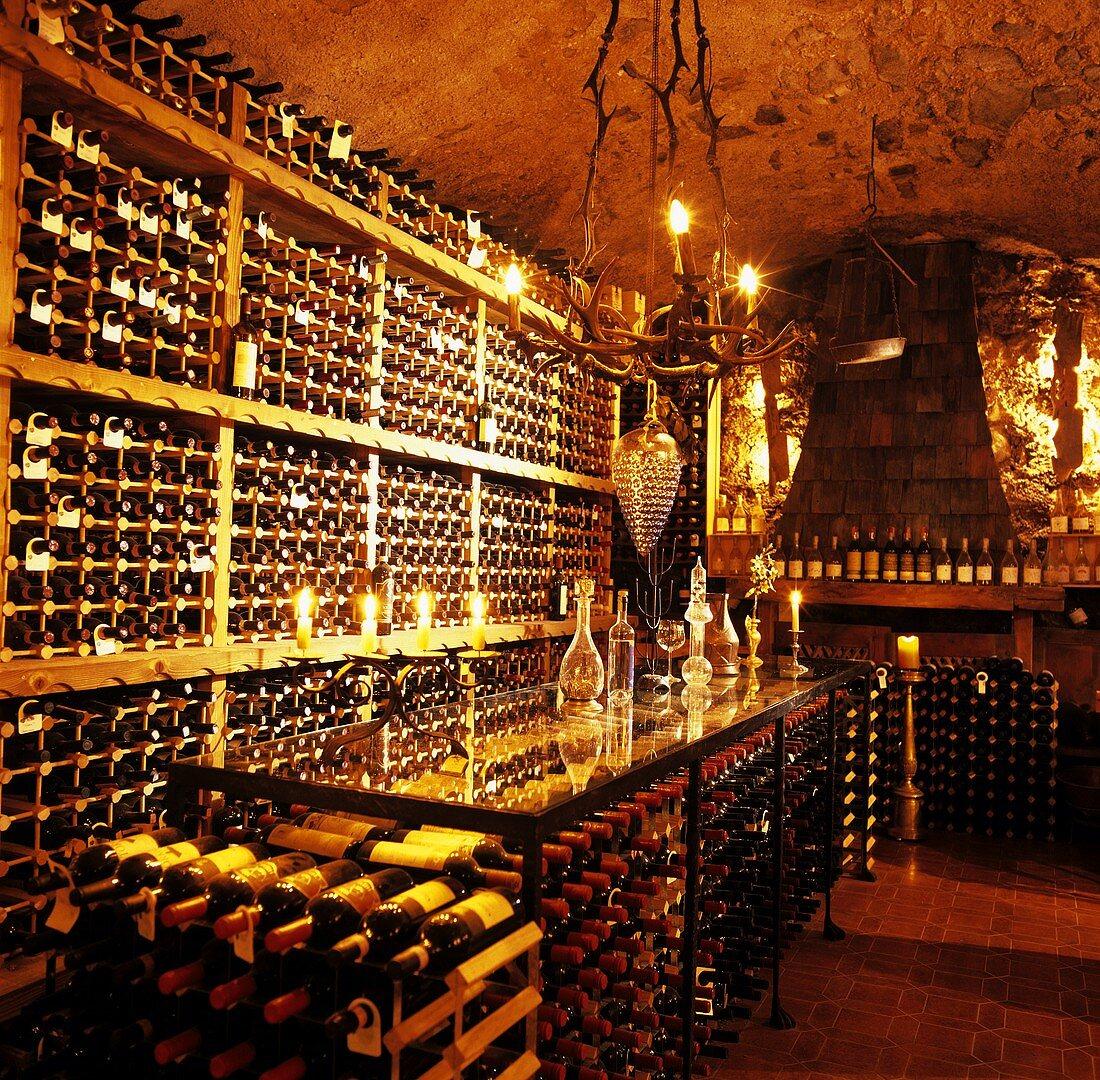 Wine cellar & tasting room in Schloss Korb, Missian, S, Tyrol