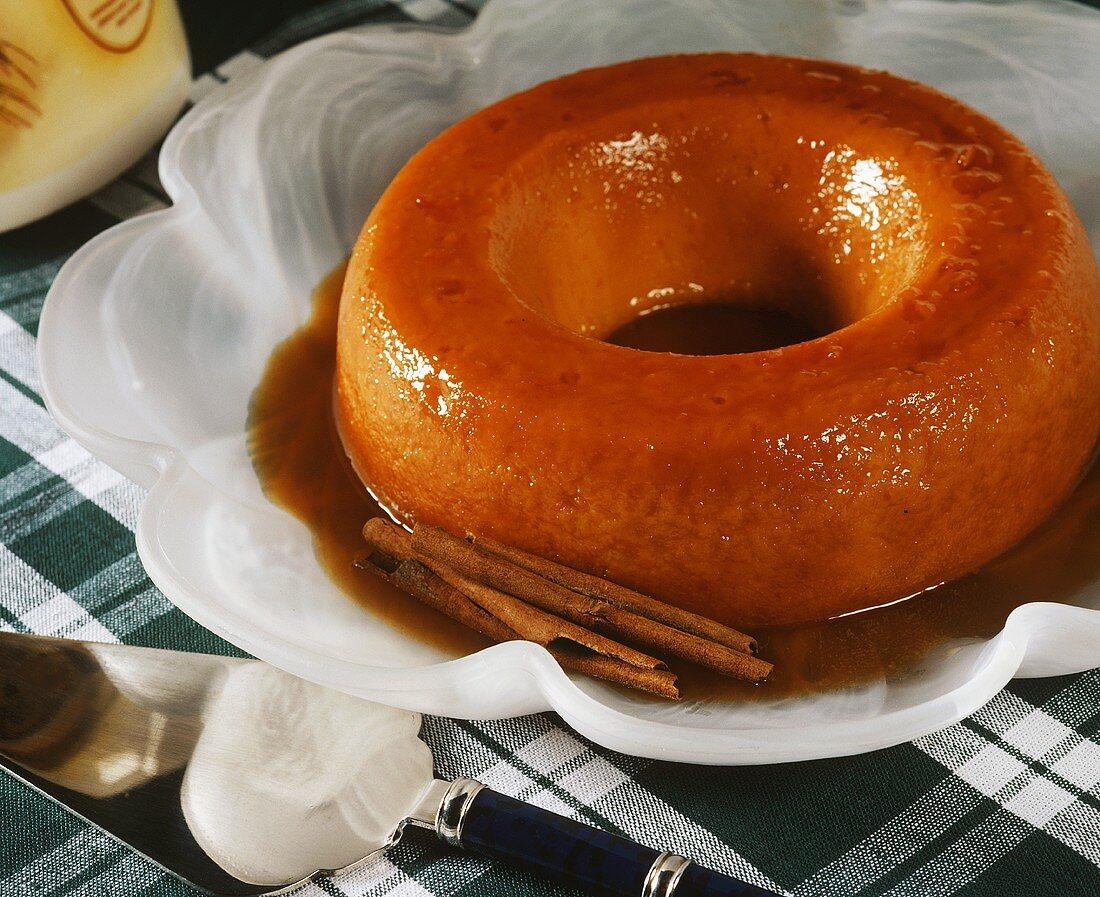 Pudim de leite: milk pudding from Brazil, Portugal